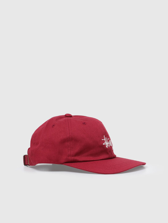 Stussy Stock Low Pro Cap Berry 6505002060-0623