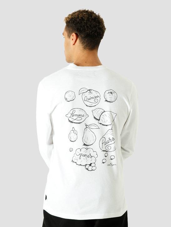 Ceizer Study & Sketch Longsleeve T-Shirt White VG002