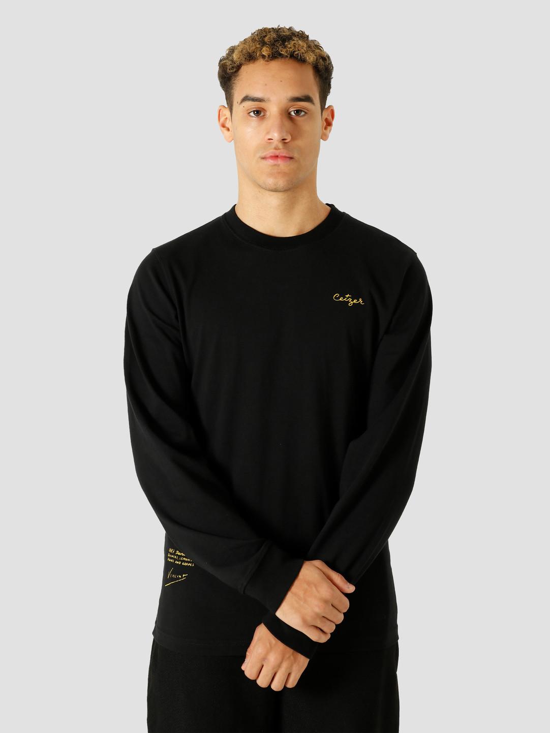 Ceizer Ceizer Study & Sketch Longsleeve T-Shirt Black VG003