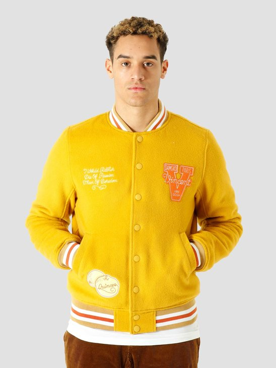 Ceizer Van Gogh Wool Varsity Jacket Yellow VG001
