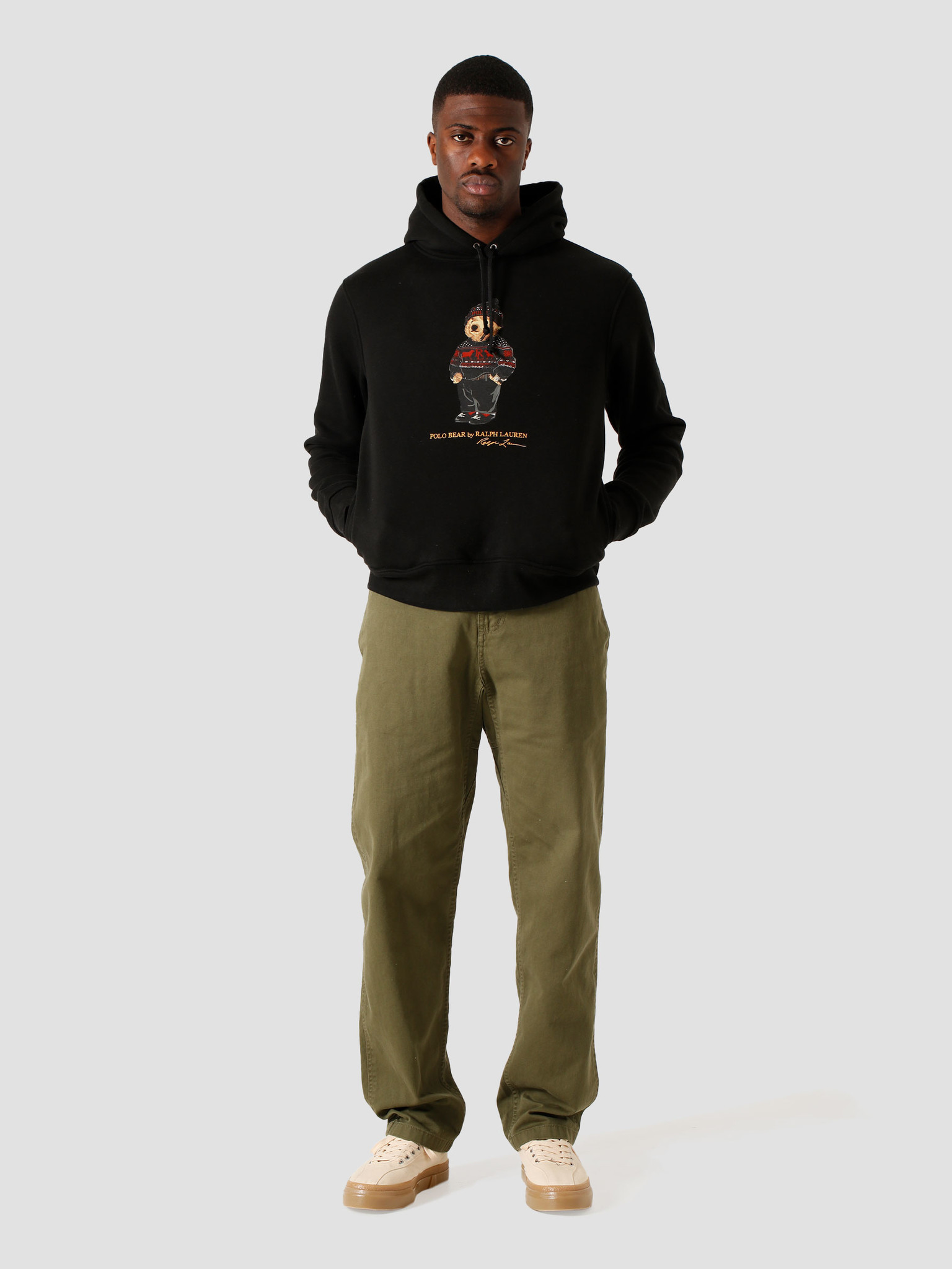Polo Ralph Lauren Polo Ralph Lauren Magic Fleece Longsleeve Polo Black 710828374001
