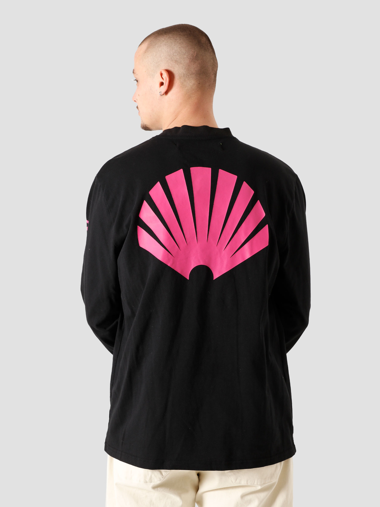 New Amsterdam Surf Association New Amsterdam Surf association Logo Longsleeve Black Magenta 2021019