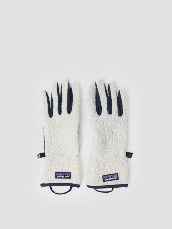 Patagonia Retro Pile Gloves Pelican 34585