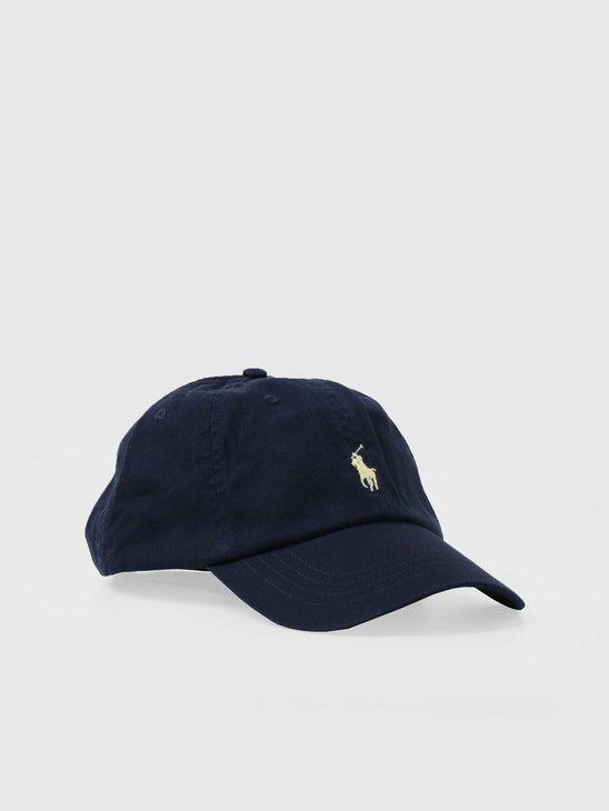 Polo Ralph Lauren Sport Cap Hat Relay Blue Wicket Yellow 710548524006