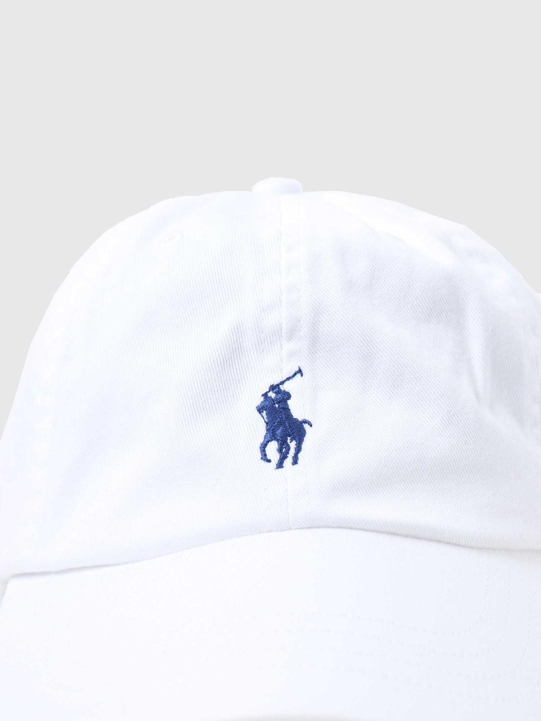 Polo Ralph Lauren Polo Ralph Lauren Sport Cap Hat White Marlin Blue 710548524001