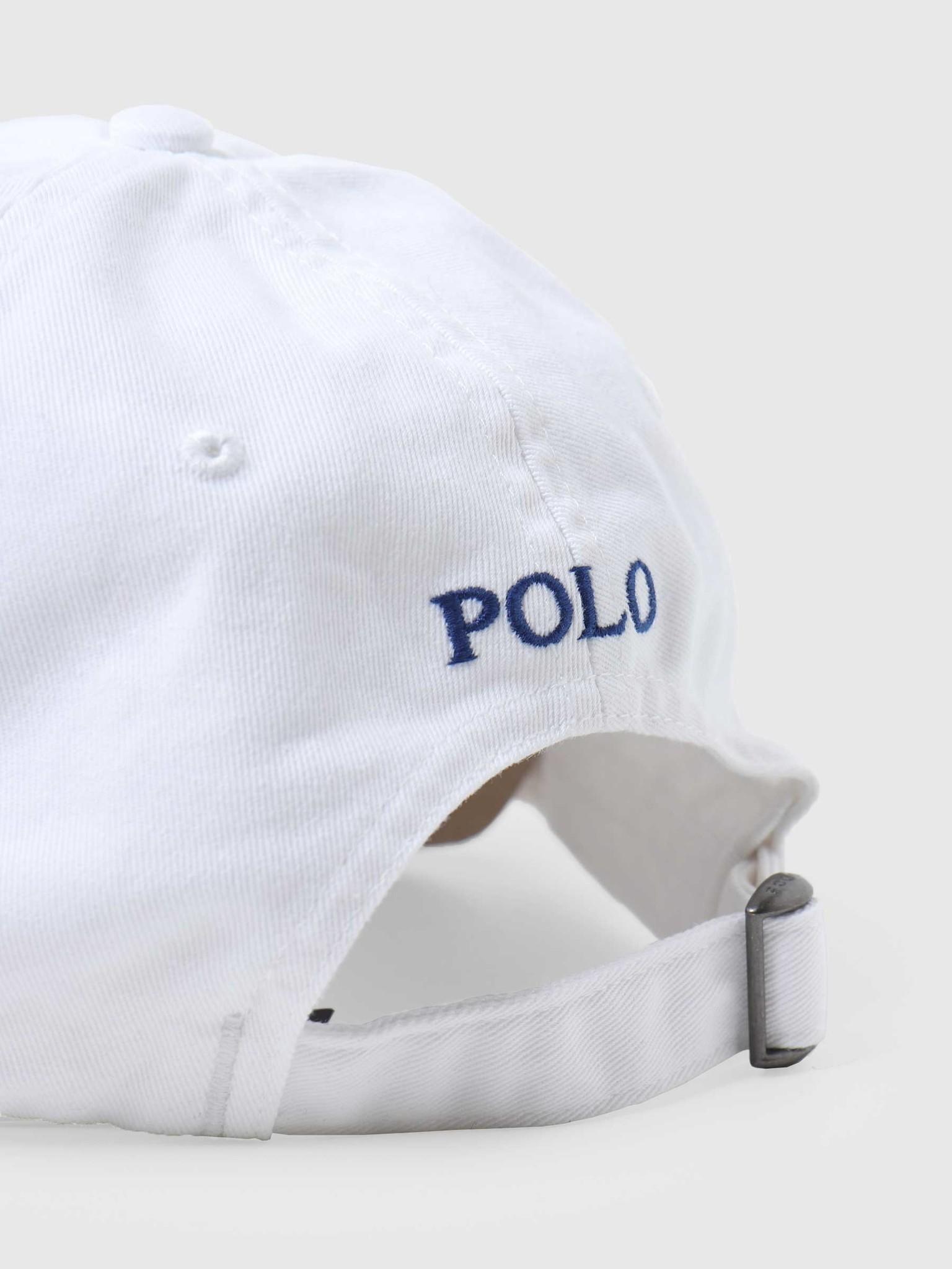 Polo Ralph Lauren Ralph Lauren Sport Cap Hat White Marlin Blue 710548524001