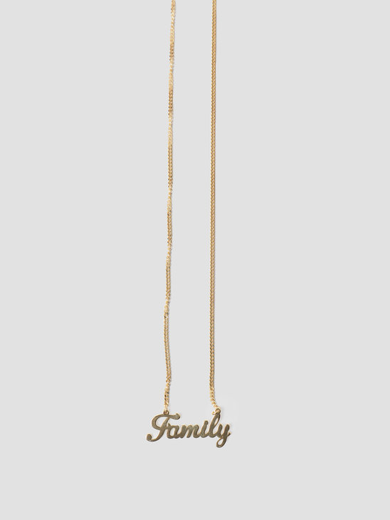 Golia by Freshcotton Family Necklace 55cm 14K Gold Plated