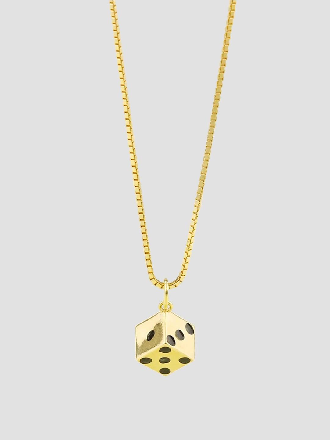 Golia Golia Dice Necklace 55cm 14k Gold