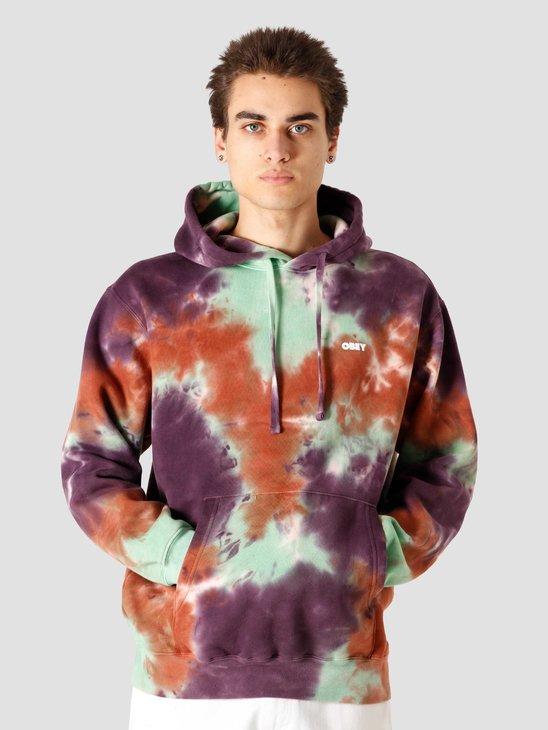 Obey Bold Premium Hood Fleece Tie Dye Green 111962817SGRN