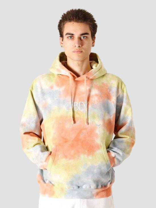 Obey Regent Premium Hood Fleece Tie Dye Spirulina 111962818SSPL
