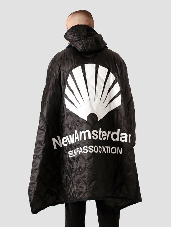 New Amsterdam Surf Association Storm Poncho All Weather Black 2021071