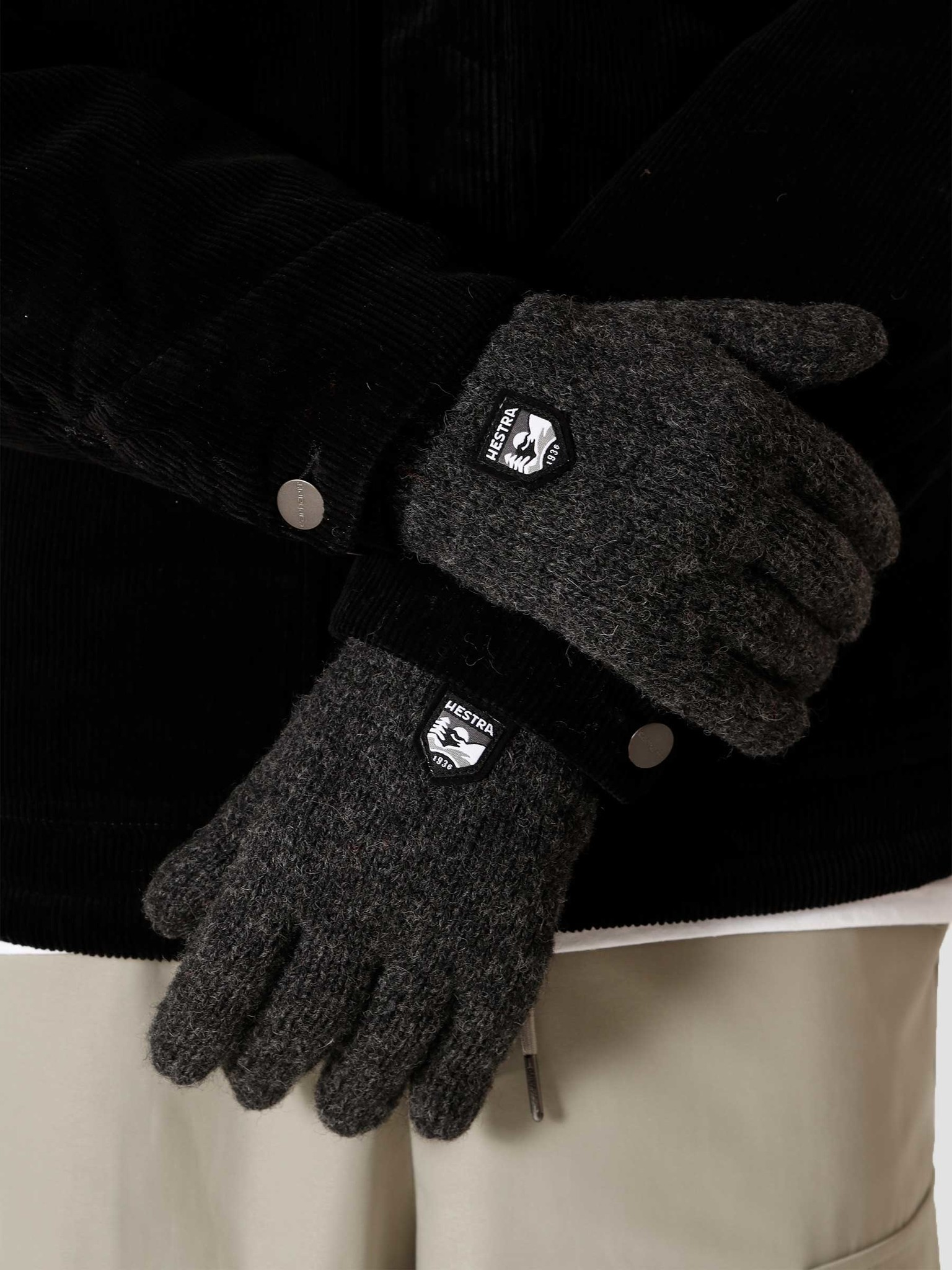 Hestra Hestra Basic Wool Glove Charcoal 63660-390