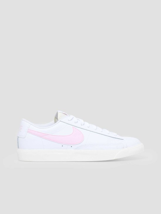Nike Blazer Low Leather White Pink Foam Sail CI6377-106