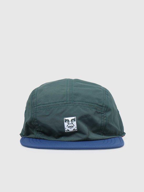 Obey Robbin Reversible 5 Panel Hat Green Multi 100490072