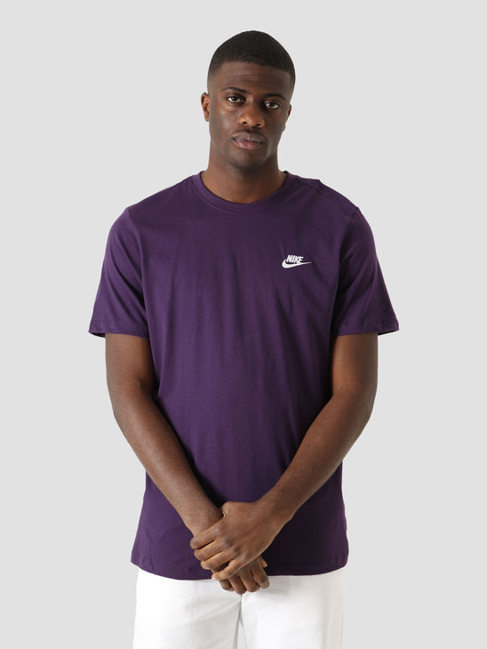 Nike NSW Club T-Shirt Grand Purple White AR4997-525