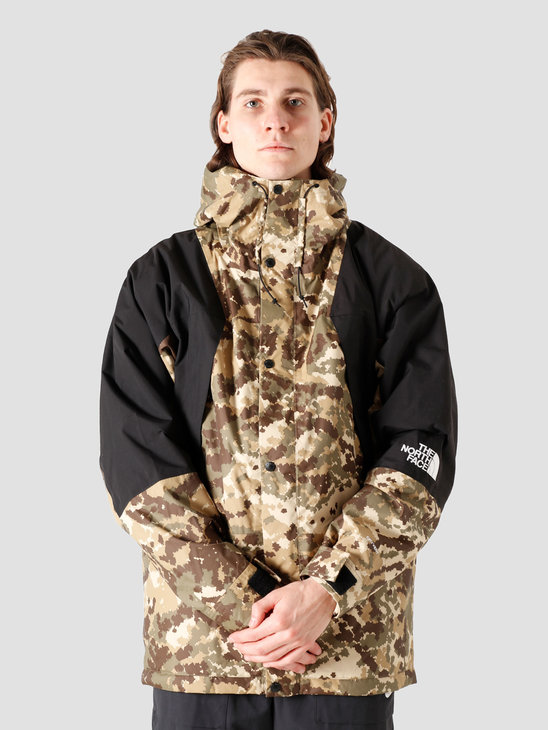 The North Face Mountain Light DryVent Jacket Burnt Olive Green Digital Camo Print NF0A3XY5SX1