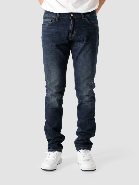 Carhartt WIP Rebel Pant Dark Worn Wash Blue I015331-01WV