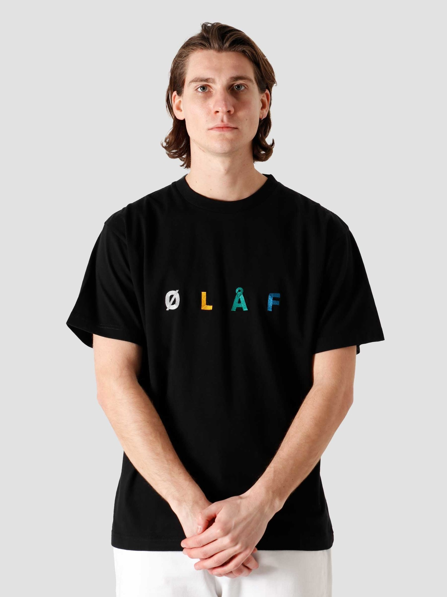 Olaf Hussein Olaf Hussein OH Chainstitch T-Shirt Black