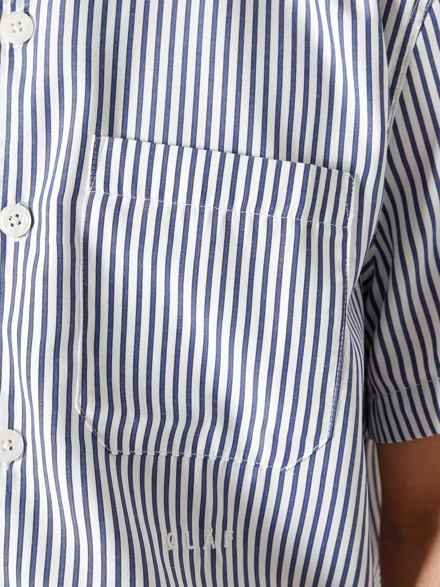 Olaf Hussein Olaf Hussein OH Stripe Shirt Navy White