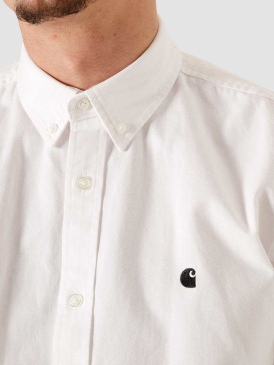 Carhartt WIP LS Madison Shirt White Black I023339-294