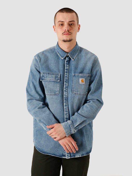Carhartt WIP Salinac Shirt Jac Blue I029212-01WJ