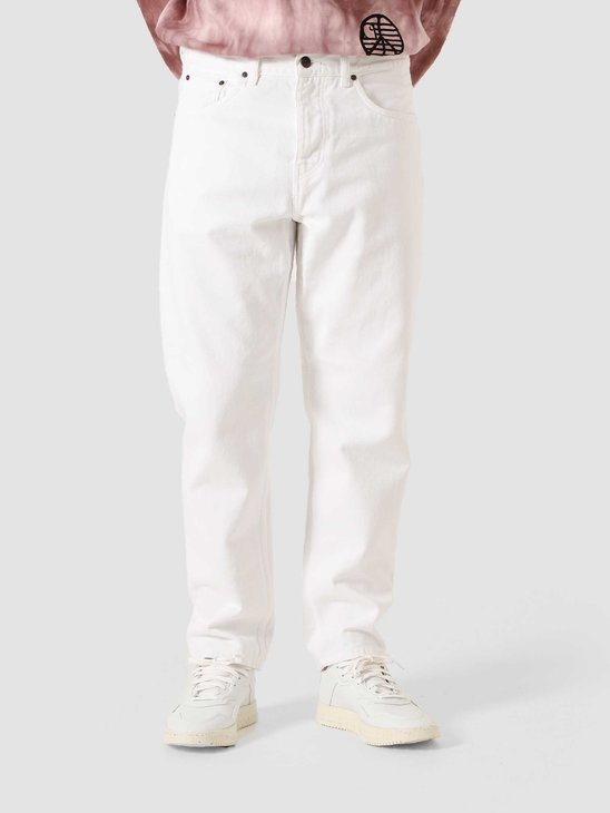 Carhartt WIP Newel Pant Rinsed Washed White I029148-02WD