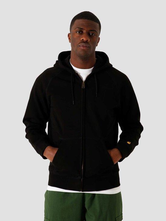 Carhartt WIP Hooded Chase Jacket Black Gold I026385-8990