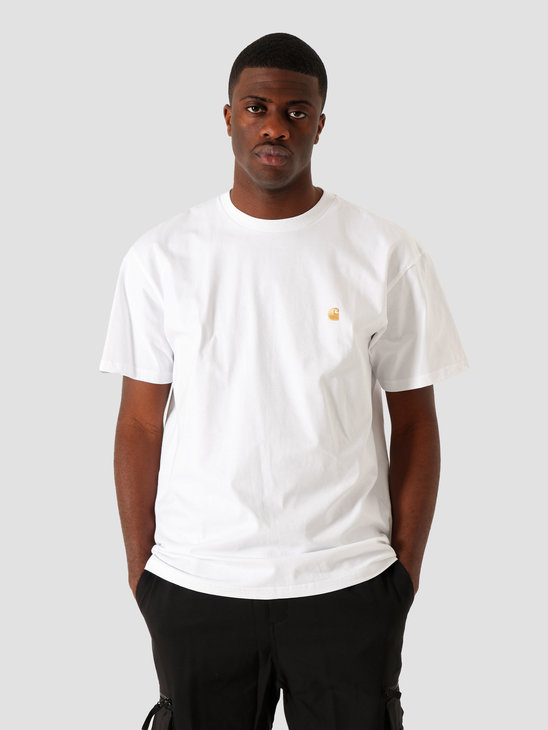 Carhartt WIP Chase T-Shirt White Gold I026391
