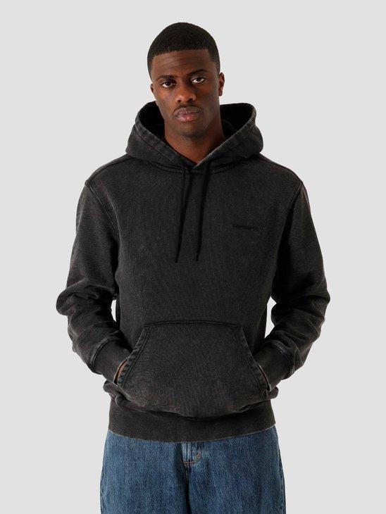 Carhartt WIP Hooded Mosby Script Sweat Black I028586-8900