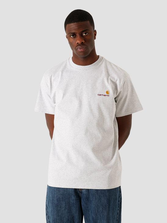 Carhartt WIP SS American Script T Shirt Ash Heather I029007-48200