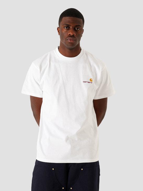 Carhartt WIP SS American Script T Shirt White I029007-200