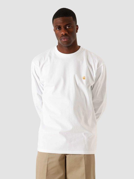 Carhartt WIP Longsleeve Chase T-Shirt White Gold I026392