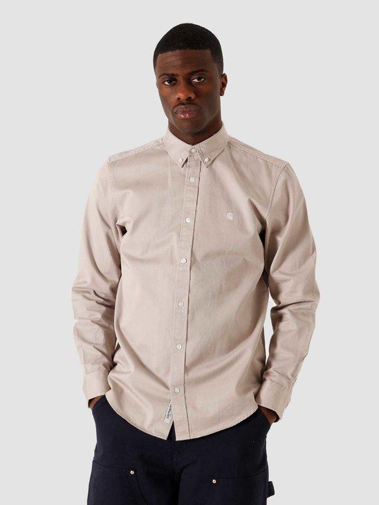 Carhartt WIP LS Madison Shirt Glaze Wax I023339-0AA91