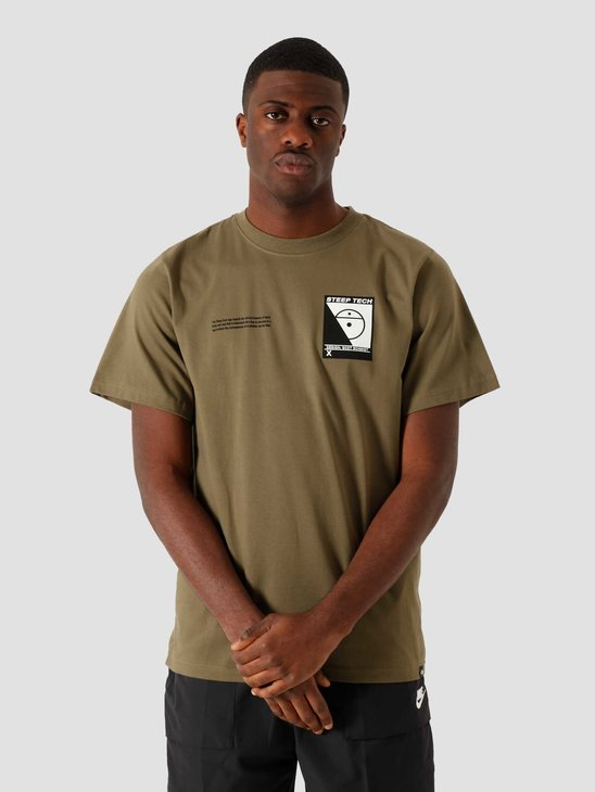 The North Face Steep Tech T-Shirt Burnt Olive Green NF0A47467D6