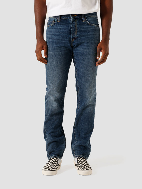 Carhartt WIP Klondike Pant Mid Worn Wash Blue I016735-01WM