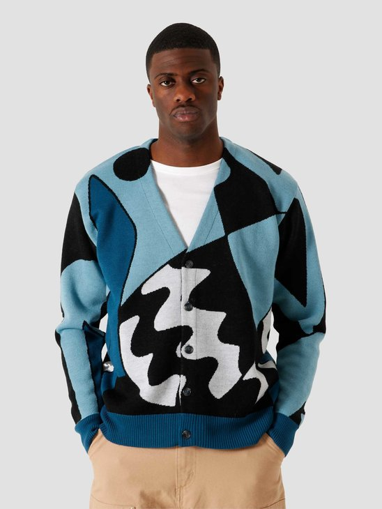 by Parra Too Loud Knitted Cardigan Multi 45090