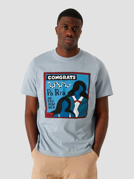 by Parra Congrats Dusty Blue T-Shirt 45010