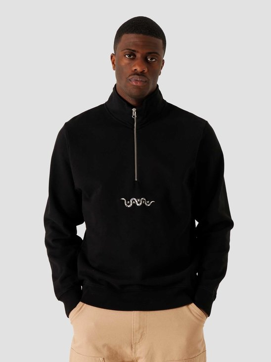 by Parra Snaked Zip Sweatshirt Black 45050