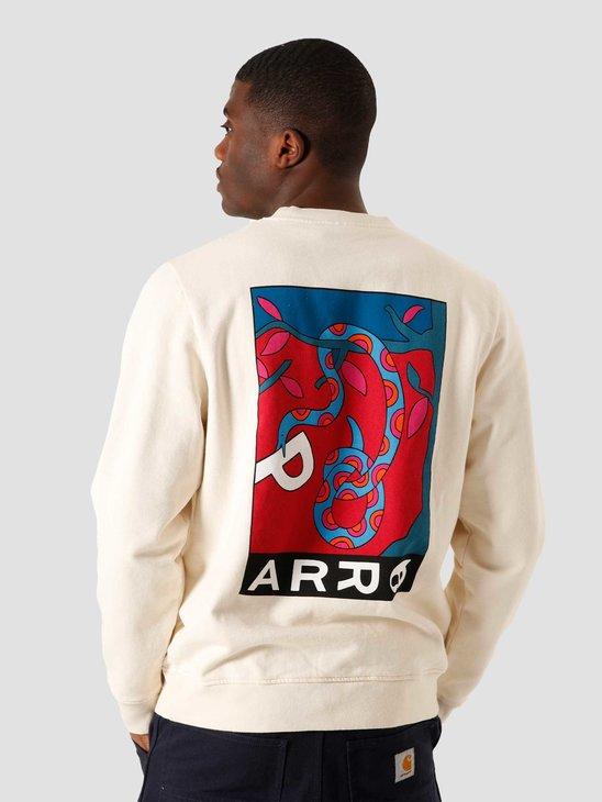 by Parra Eve Garden Crew Neck Sweatshirt Off White 45060