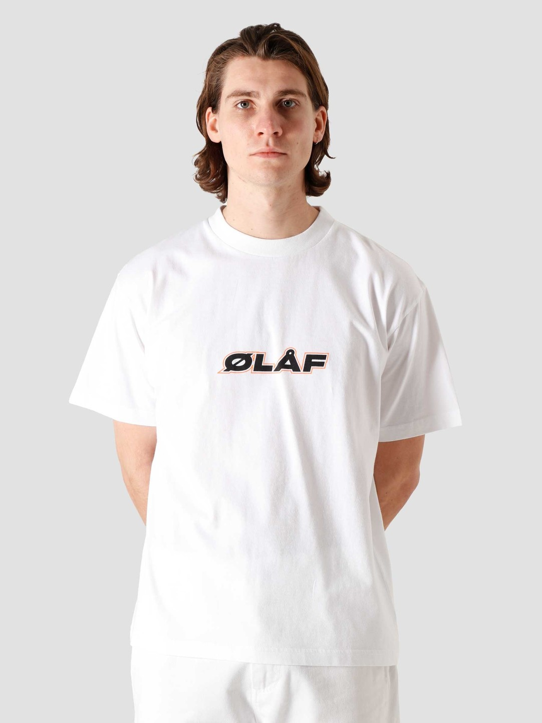 Olaf Hussein Olaf Hussein OH Italic T-Shirt White SP21