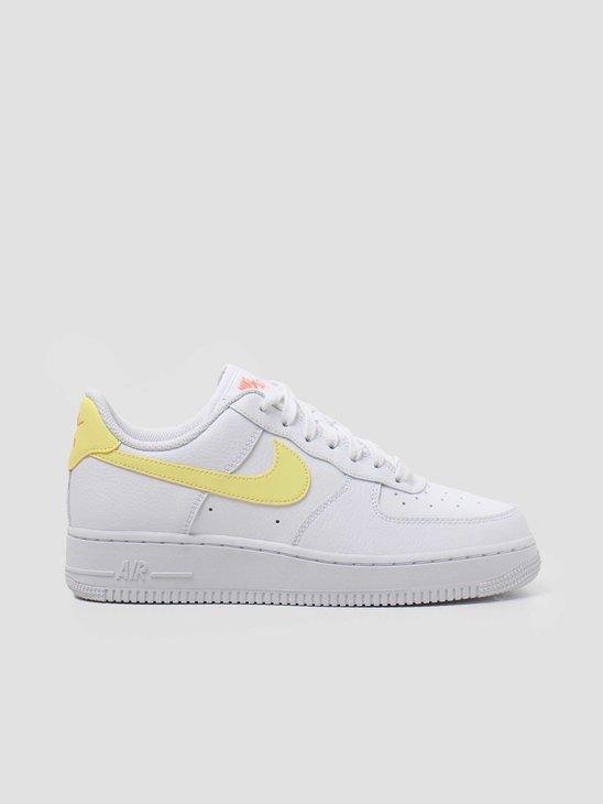 Nike Air Force 1 07 White LT Zitron Bright Mango White 315115-160