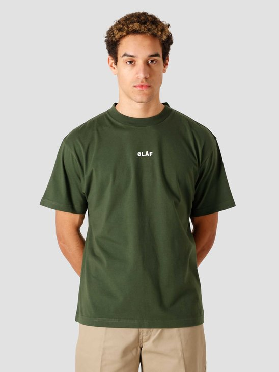 Olaf Hussein OH Block T-Shirt Dark Forest