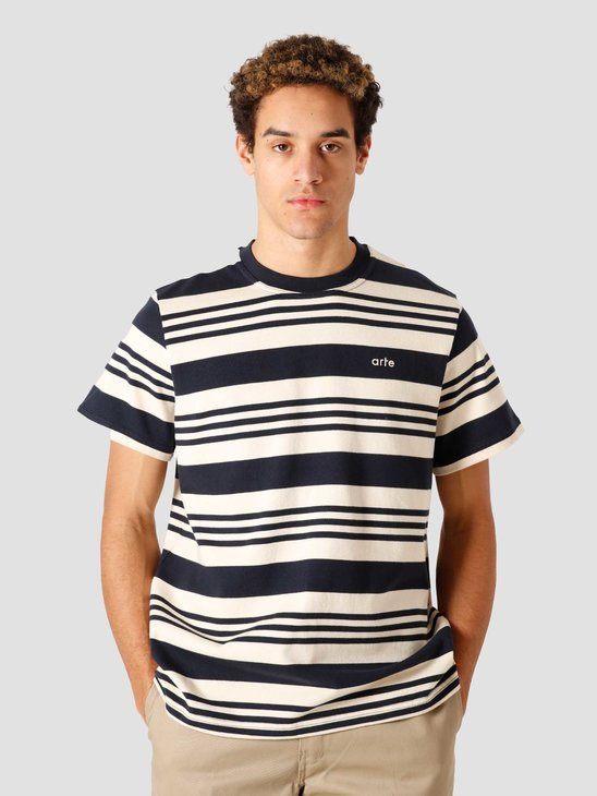 Arte Antwerp Tomi Stripes Navy Creme 006T