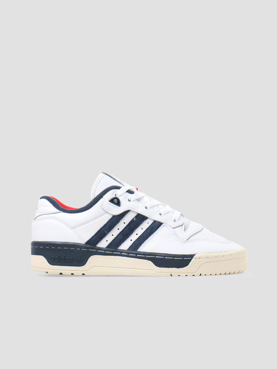 adidas Rivalry Low Premium Footwear White Core White Navy FY8031