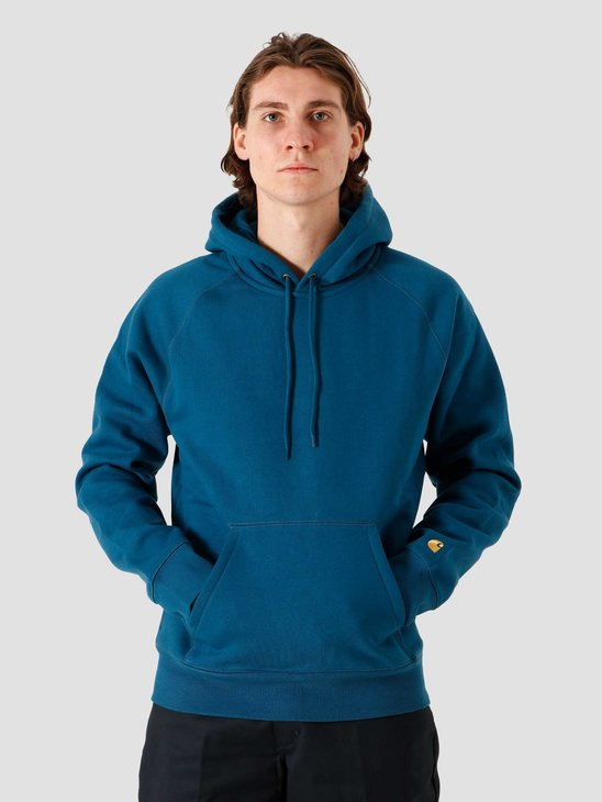 Carhartt WIP Hooded Chase Sweat Corse Gold I026384-88890