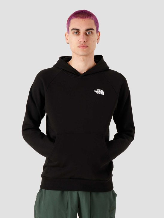 The North Face Raglan Redbox Hoodie Black White NF0A2ZWUKY4