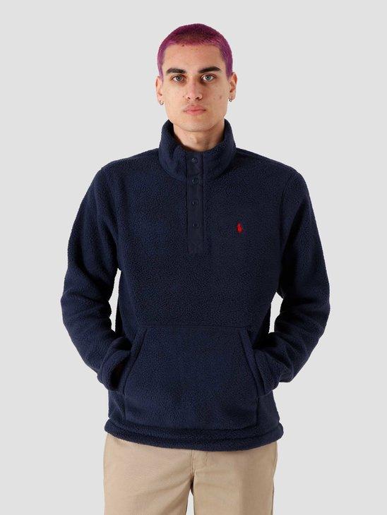 Polo Ralph Lauren Lsbtnmock Knit Cruise Navy 710814361004