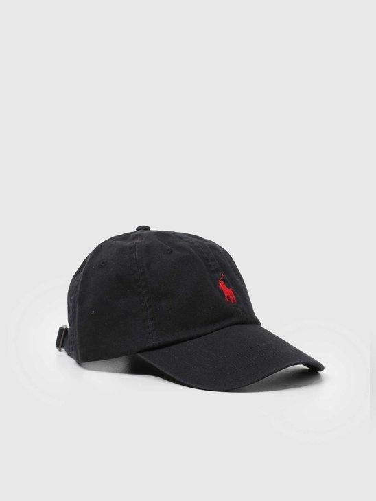 Polo Ralph Lauren Sport Cap Hat RL Black RL2000 Red 710548524004