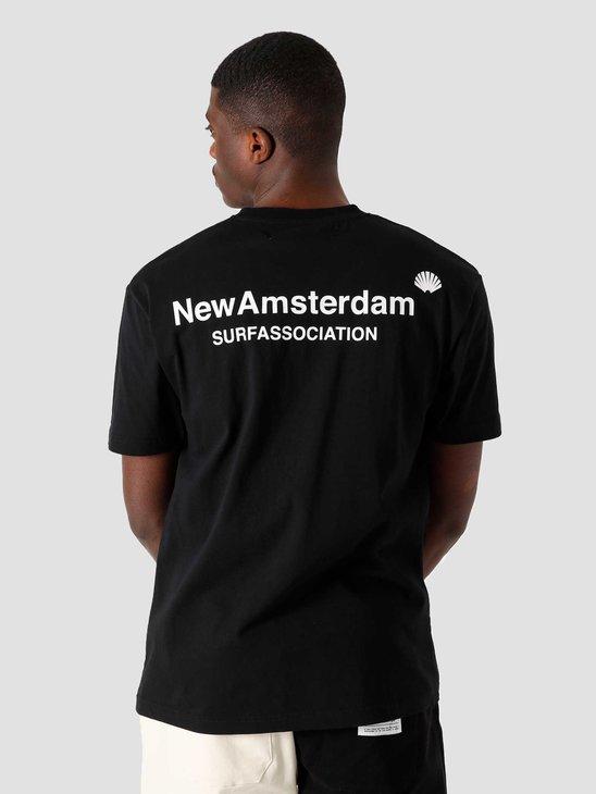 New Amsterdam Surf association Logo Tee Black-White 2021095