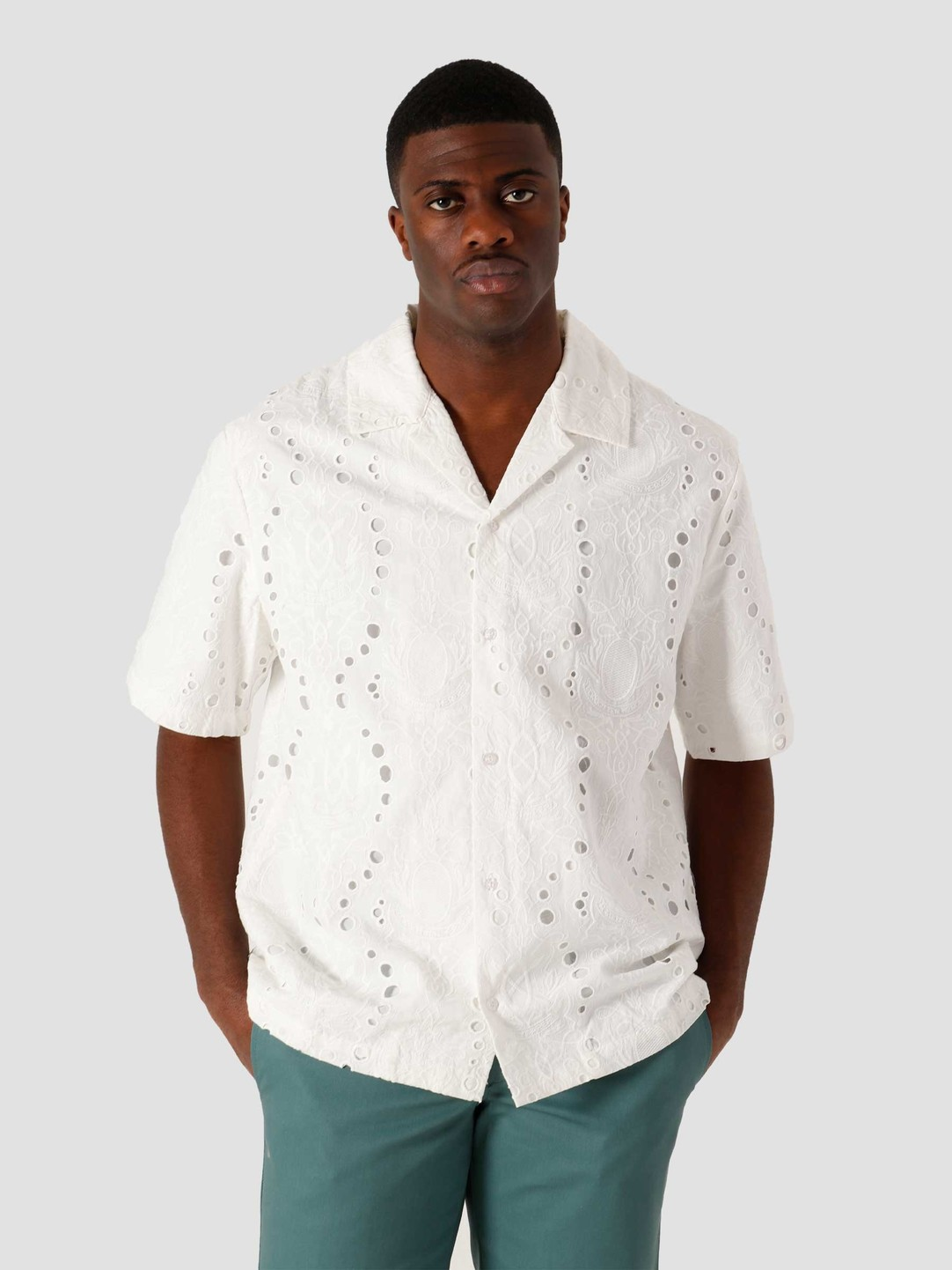 Daily Paper Daily Paper Kovan Lace Relaxed Shirt White 2111166